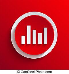 벡터, 빨강, 원, icon., eps10