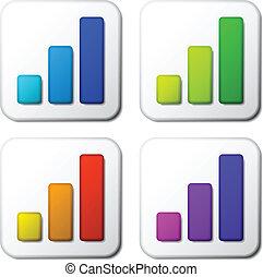 벡터, 색, 그래프, 아이콘