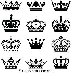 벡터, 세트, 왕관