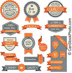 벡터, 웹 디자인, 배너, 와..., 성분