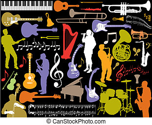 벡터, 음악, elements.