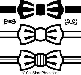 벡터, 활 넥타이, 검정, 상징