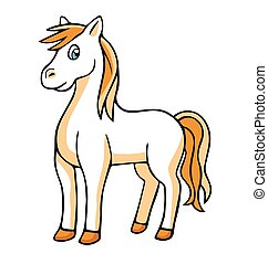 벡터, horse., illustration.