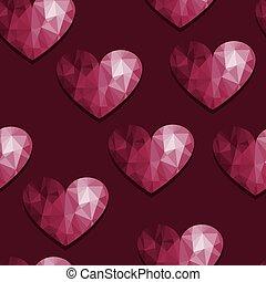 벡터, seamless, 패턴, 와, 심혼