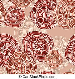 벡터, seamless, 패턴, 와, 장미