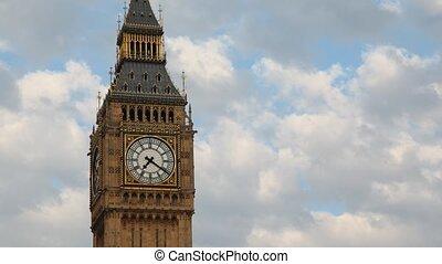 벤, sky., 크게, 향하여, england., 런던