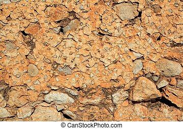 벽돌공, 돌담, 구식의, 콘크리트, 직물