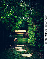 벽돌 경로, garden.