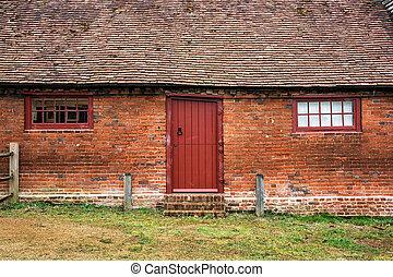 벽돌 집, 에서, 그만큼, 영국 시골