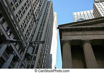 벽, 뉴욕, 거리, 미국