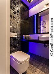 벽, 화장실, 암흑, 광택 인화, 유행