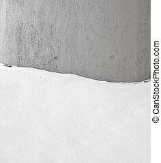 벽, 회색, 배경, stucco