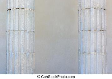 벽, 2, 배경., scenery., 백색, 란