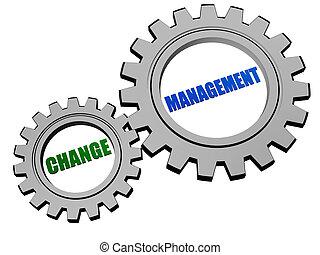 변화, 관리, 에서, 은, 회색, 은 설치한다