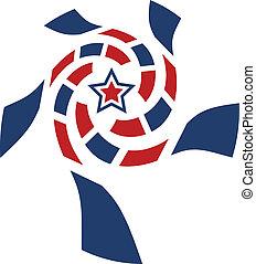 별, 미국, 소용돌이