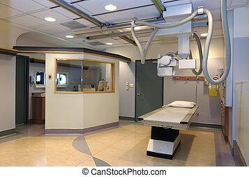 병원 방, 엑스선으로 검사하다