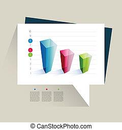 보기, 의, 사업, 3차원, 디자인, 그래프