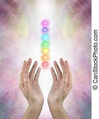 보냄, chakra, 치유하는, 에너지