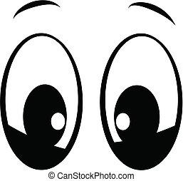 복합어를 이루어 ...으로 보이는 사람, 당신, 눈