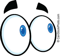 복합어를 이루어 ...으로 보이는 사람, 만화, 눈