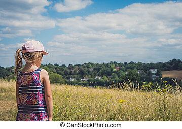 복합어를 이루어 ...으로 보이는 사람, 서리, 소녀, 시골