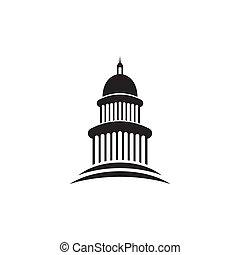 본뜨는 공구, 건물 디자인, 경계표, 벡터, 로고, 국회 의사당