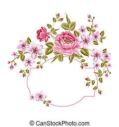 봄의 꽃, 꽃다발, 치고는, 포도 수확, card.