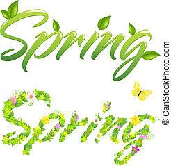 봄, 낱말