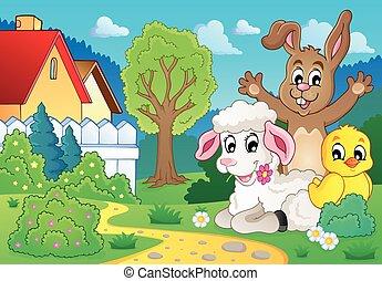 봄, 주제, 2, 동물, 심상
