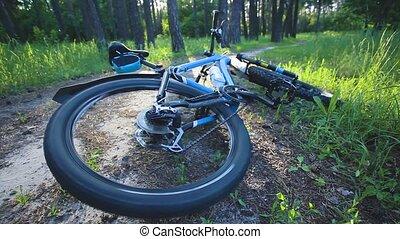 부서지는 것, 자전거, 사고