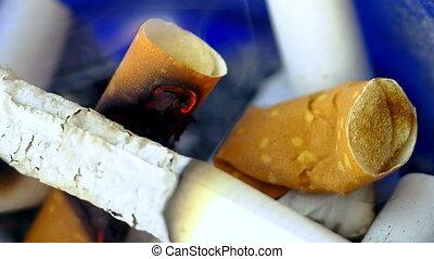 부식하는, 담배, 은 점화한다, 에서, 재떨이