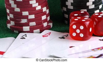 부지깽이 거푸집, 돈, 카드, 칩을 거는 것, 빨강