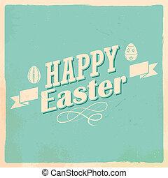 부활절, 활판 인쇄술, 배경, 행복하다