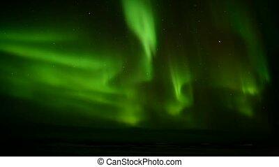 북극광, 통하고 있는, 그만큼, 극한의, 하늘