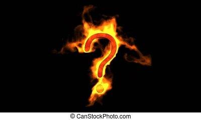 불, 질문, mark.