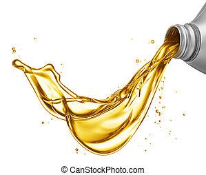 붓는 것의, 기름