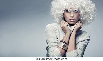 블론드인 사람, 인력이 있는, 아름다움