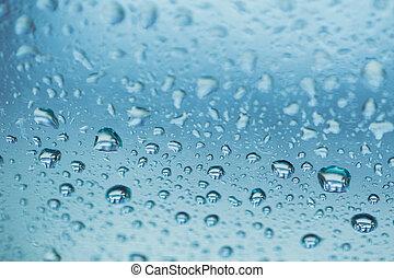 비가 오는, 계절, 습도, 물, 습기, 습기, 근해 하락, 배경, 파랑, 색, tone.