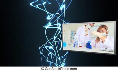 비디오, 의, 실험실
