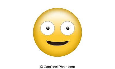 비디오, emoji, 디지털, 생성된다, 행복하다