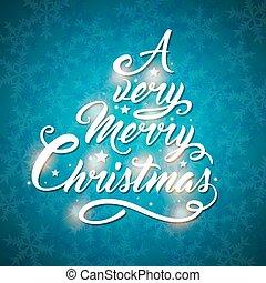비문, 나무, 인사, 형태, 크리스마스