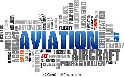 비행술, 낱말, 구름, 파랑, 거품, 은 표를 붙인다, 나무, 벡터