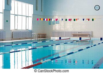 빈 광주리, 새로운, 학교, 수영 풀