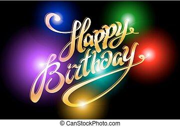 빛, 활판 인쇄술, 삽화, 생일, 배경, 행복하다