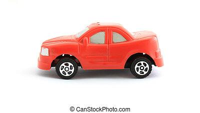 빨간 장난감 차