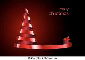 빨강 리본, 크리스마스 나무