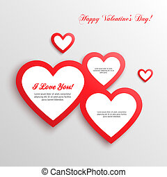 빨강, 심혼, 연인 날, card.