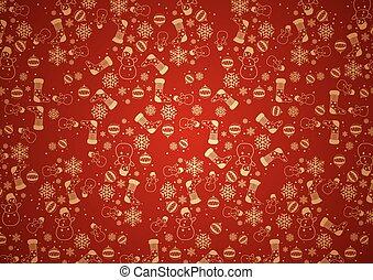 빨강, 크리스마스, 배경, 직물
