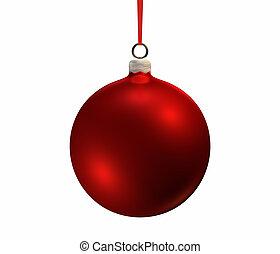 빨강, 크리스마스, 전구