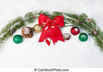 빨강, 크리스마스, 활